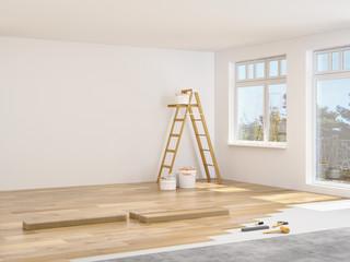 Obraz sanierung einer wohnung - fototapety do salonu