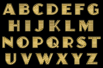 Vaudeville Marquee Alphabet Collection