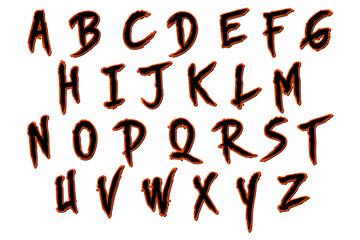 Halloween skinner alphabet collection