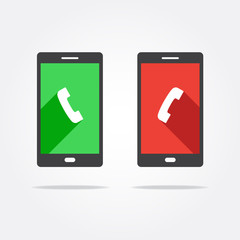 Accept & Decline Call Phone Icon