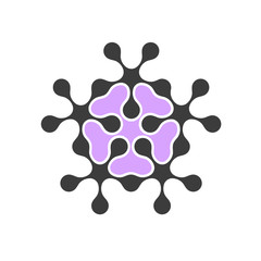 Abstract flower - design element (variation 2)