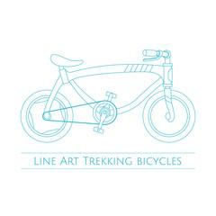 Line Art Trekking Bicycles Two