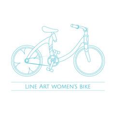 Line Art Womens  Bike One