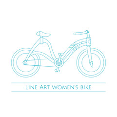 Line Art Womens Bike Two