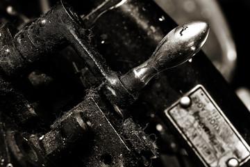 old metal machine tool