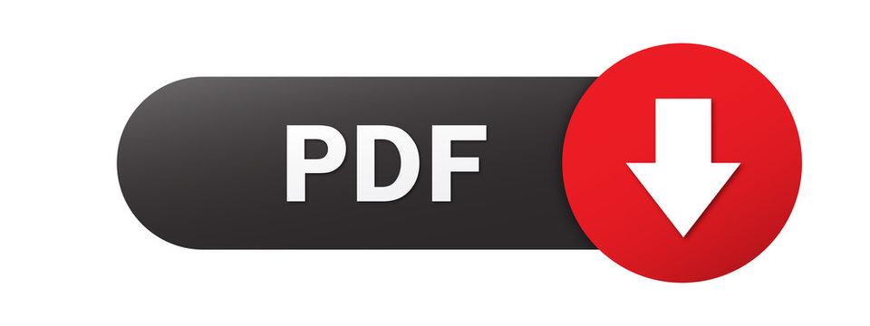 Black and red PDF vector web button