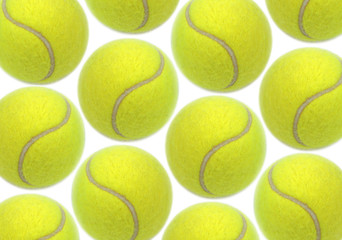 Wall Mural - Tennis balls on white background