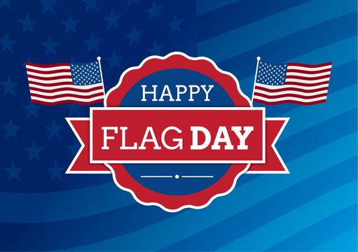 Flag day badge background