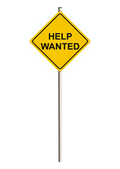 Help wanted. Road sign. Raster