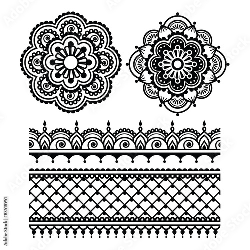 mehndi indian henna tattoo seamless pattern stockfotos und lizenzfreie vektoren auf fotolia. Black Bedroom Furniture Sets. Home Design Ideas