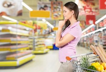 Supermarket, Groceries, Shelf.