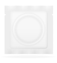 condom in white package vector illustration