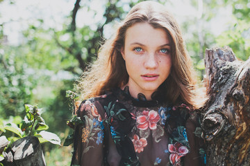 Russia, Portrait of beautiful teenage girl (14-15)