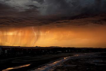 Australia, Lightning over Kirra