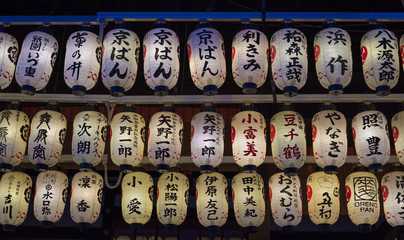 Japanese temple lanterns