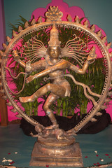 Statuette of the dancing Shiva . from India