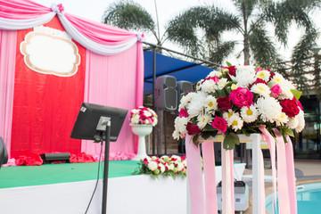 Beautiful wedding stage