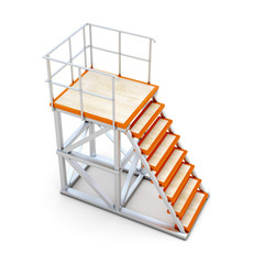 Stairways to access the ramp