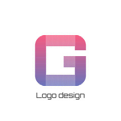 Vector illustration logo g