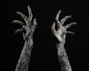 black hand of death, walking dead, zombie theme,  zombie hands