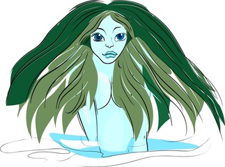 Portrait of mermaid