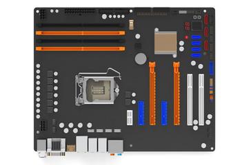 computer motherboard top view