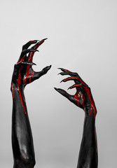 Bloody black hands of death