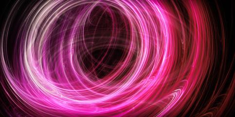 Abstract pink energy circles