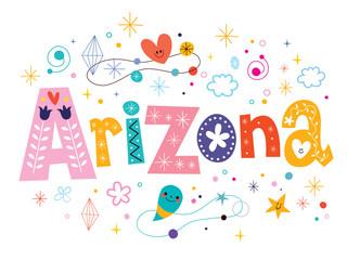 Arizona decorative type lettering text design
