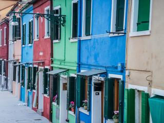 Venise Burano et ces façades colorées