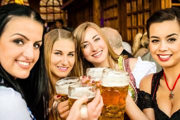 Girls drinking beer