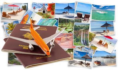 passeport pour des vacances à l'île Maurice