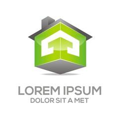 Logo Texture House Vector Real Estate