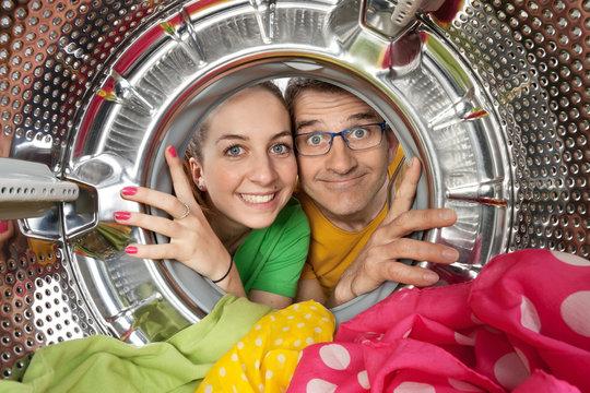 Portrait duo machine à laver