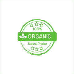 organic natural product vector stamp