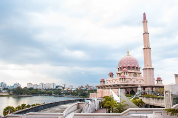 Putra Mosque located in Putrajaya city the new Federal Territory