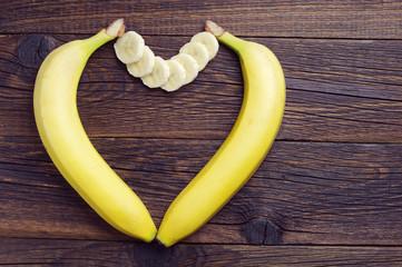 Bananas in shape of hearts