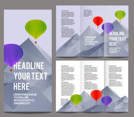 brochure design template vector trifold