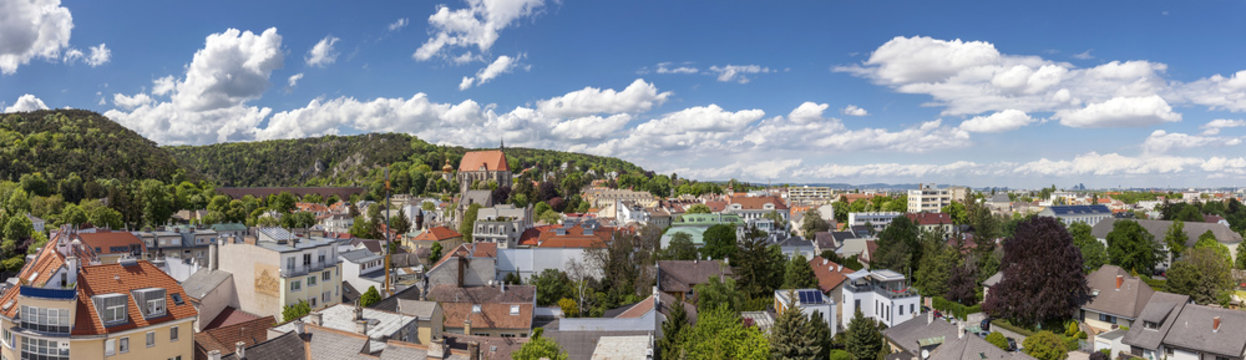 Panorama of Mödling with his famous aqueduct - Lower Austria