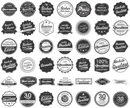Button Siegel Premium Garantie Angebot Service Shop Logo