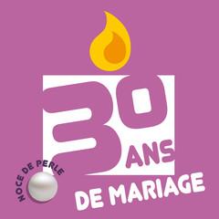 Anniversaire de mariage - 30 ans