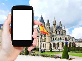 tourist photographs Abbey of Saint-Etienne, Caen