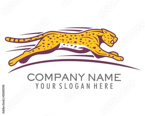 quotcheetahs sprint logo image vectorquot stock image and