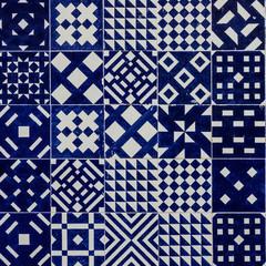 Fotomurales - Background. Ceramic tile in Lisbon street, Portugal.