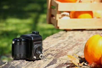 alter fotoaparat  und motiv