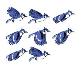 Blue Jay Bird Flying Sprite