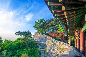 Namhansanseong Fortress in Korea, UNESCO World Heritage site.