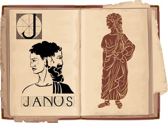 letter J with Janus