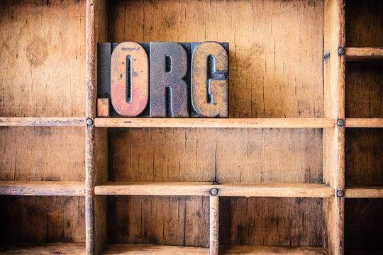 Dot Org Concept Wooden Letterpress Theme