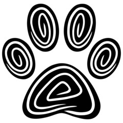 Paw Print Abstract
